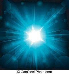 luce blu, lucente