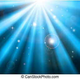 luce blu, luminoso, raggi, fondo
