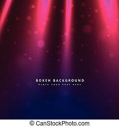 luce, bokeh, raggi, fondo