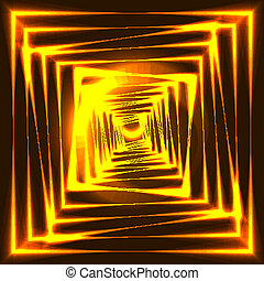 luce, colore, illustrazione, sfocato, spot., sfondo nero