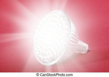 luce, condotto, bulbo, macchia