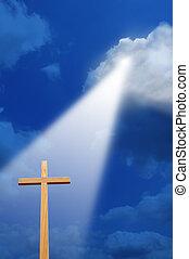 luce, croce, sopra