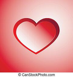 luce, cuore rosso