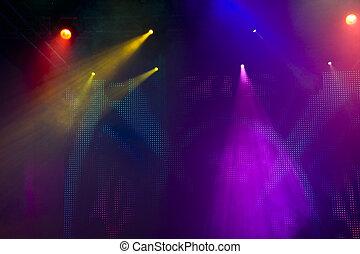 luce, discoteca, mostra