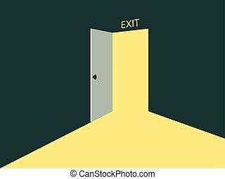 luce, door., aperto