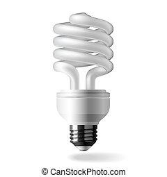 luce, energia, risparmio, bulbo