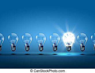 luce, fila, lampadine