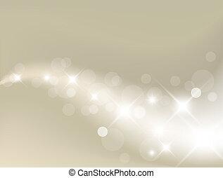 luce, fondo, argento, astratto