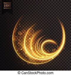 luce, golen, vettore, magia, effetto