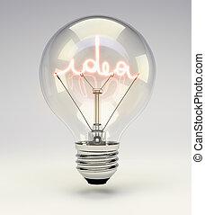 luce, idea, bulbo