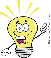 luce, idea luminosa, bulbo