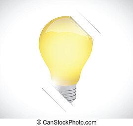 luce, illustrazione, carta, disegno, bulbo, supporto