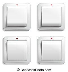 luce, illustrazione, vettore, switch.