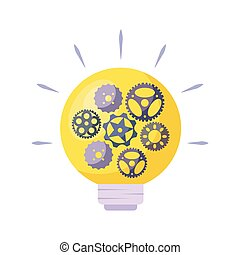 luce, ingranaggi, bulbo, pignoni