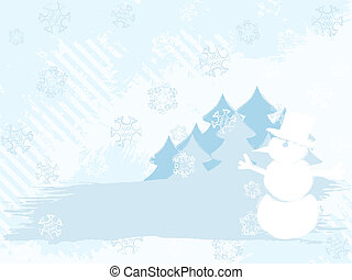 luce inverno, colori, fondo, grungy, orizzontale
