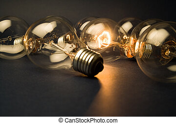 luce, luminoso, bulbo