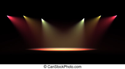luce, macchia, scena