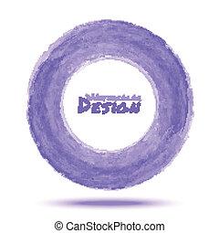 luce, mano, acquarello, viola, disegnato, cerchio