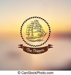luce, nave, emblema, fondo