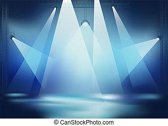luce, palcoscenico