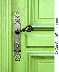 luce, porta, verde