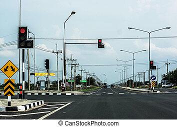 luce rossa, traffico