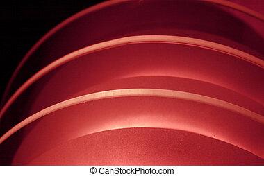 luce, rosso, curvatura