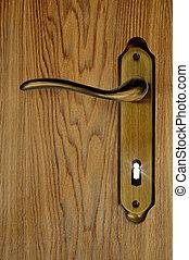 luce, serratura, venuta, esso, buco serratura, porta