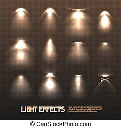 luce, set, effetti