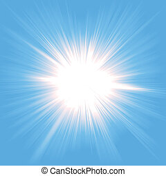 luce, starburst, cielo
