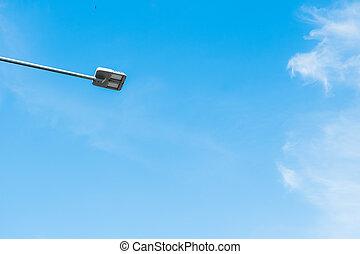 luce, strada, pole.