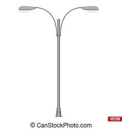 luce stradale, isolato, palo, lampada