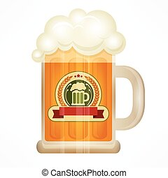 luce, tazza birra, vetro