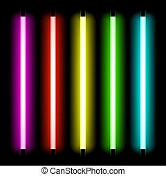 luce, tubo, neon