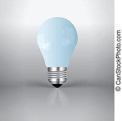 luce, vettore, bulb., illustration.