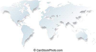 luce, vettore, -, mappa mondo