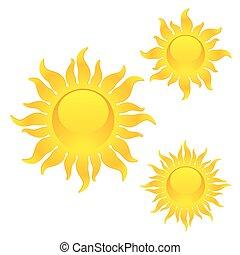 lucente, simboli, sole