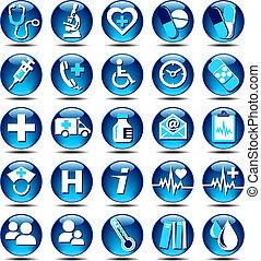 lucentezza, assistenza sanitaria, icone