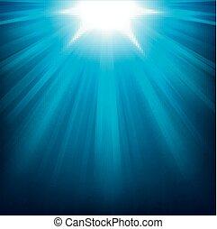 luci blu, lucente
