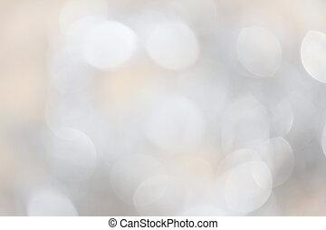 luci, bokeh, argento