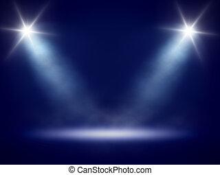luci, fondo, palcoscenico