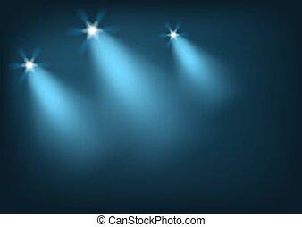luci, illuminato, palcoscenico, luminoso
