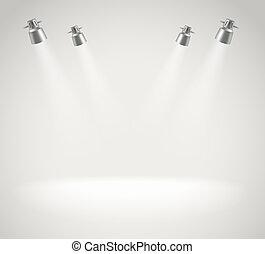 luci, luminoso, macchia, photorealistic, palcoscenico