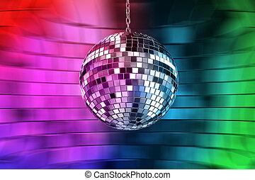luci, palla, discoteca
