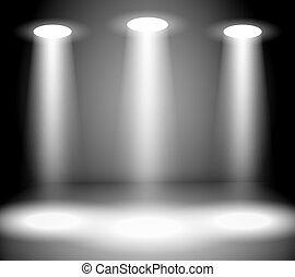luci, riflettore