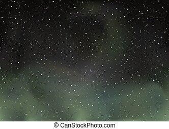 luci, settentrionale, universo