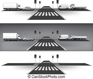 luci, traffico, verde