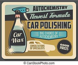 lucidatura, automobile, chimica, servizio, auto