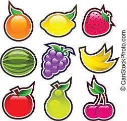 lucido, colorito, frutte