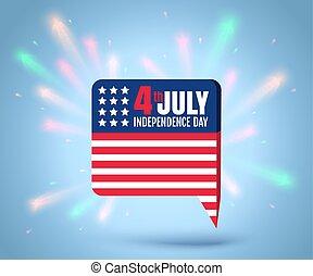 luglio, indipendenza, 4, th, giorno